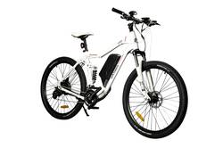 Oxygen MTB-X Full Suspension Electric Bike  - White Image