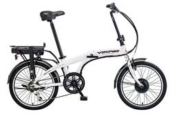 Viking Harrier Folding Electric Bike - White Image