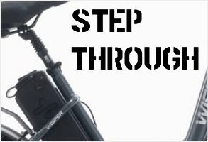 Step through electric bikes