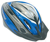 Adults Helmet with Rear Flashing Light - Blue Image