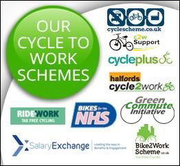 e-bikesdirect works with the following cycle to work schemes: NHS, cyclescheme.co.uk, bike2work, proc2w, ridework, halfords cycle2work, cycleplus, salaryExchange