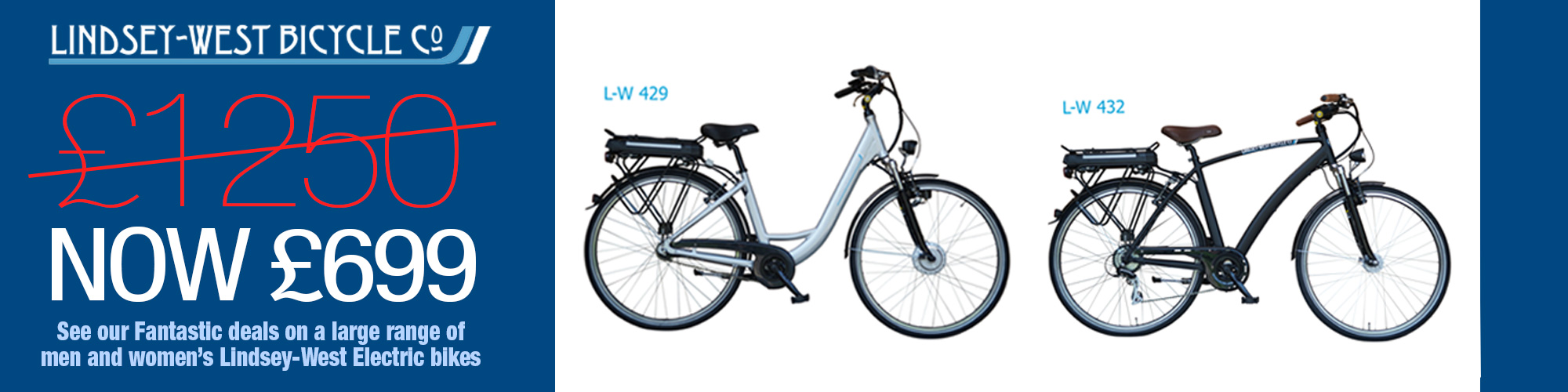 Lindsey-Wst Bicycle Co Electric Bike Now £699