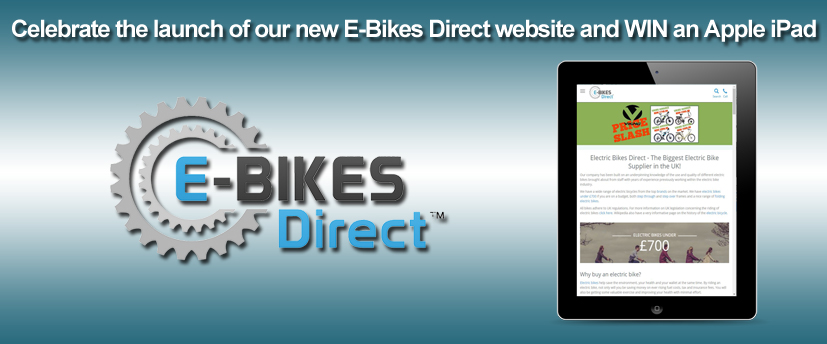 win an iPad with Ebikes Direct