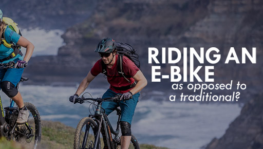 How to ride an E-Bike as opposed to a traditional.