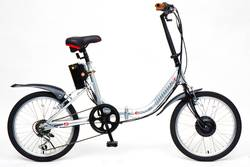 Viking Hopper E-Club Folding Electric Bike Silver Thumbnail