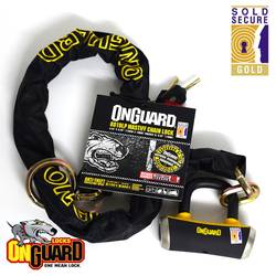 Onguard Mastiff 130cm x10cm Loop Chain Padlock Bike Motorcycle Lock LK8019LP 1 Thumbnail