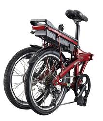 Benelli Fold City Electric Bike Red 2 Thumbnail