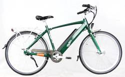 Emu Cross Bar Green Electric Bike