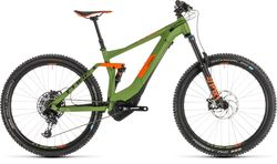 Cube Stereo Hybrid 140 Race 500 FS Electric MTB 2019 Green - 12 Speed, 27.5