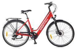 Westhill CLASSIC Step Through City Electric Bike RED Thumbnail