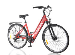 Westhill CLASSIC Step Through City Electric Bike RED 3 Thumbnail