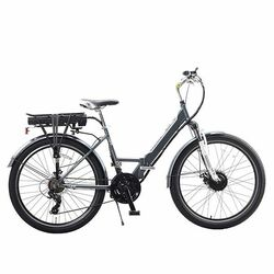 eLiFE Cruiser City Town Low-Step Electric Bike, 8.8Ah - Metallic Grey Thumbnail