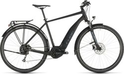 Cube One 400 Touring Hybrid Electric Bike 2019 - 9 Speed, Alloy Frame - Black/Blue Thumbnail
