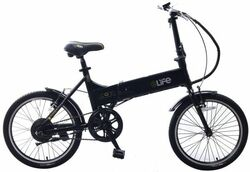 eLife Air Folding Commuter Electric Bike - Black Thumbnail