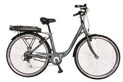 Basis Commute Unisex Step Through Electric Bike - Graphite Grey Thumbnail
