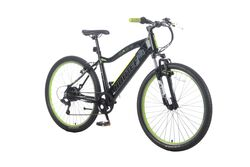 Basis Hunter Unisex Integrated Electric Mountain Bike - Black/Lime 1 Thumbnail