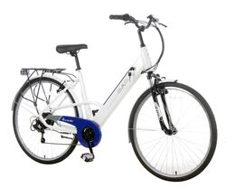 Basis Dorchester Step Through Integrated Electric City Bike - White/Blue 1 Thumbnail