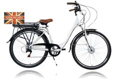 Cyclotricity Jade Step Through Dutch Style Electric Bike, 6 Speed, 28