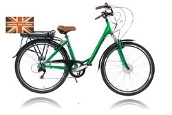 Cyclotricity Jade Step Through Dutch Style Electric Bike, 6 Speed, 700c - Green 2 Thumbnail