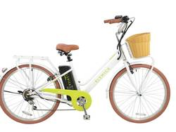 Elswick Electric Step Through 10Ah Electric Heritage Bike With Basket Thumbnail