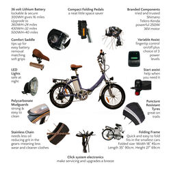 Juicy Bike COMPACT CLICK Folding Electric Bike RIVER 1 Thumbnail