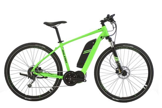 raleigh strada ts electric mountain bike green. Black Bedroom Furniture Sets. Home Design Ideas