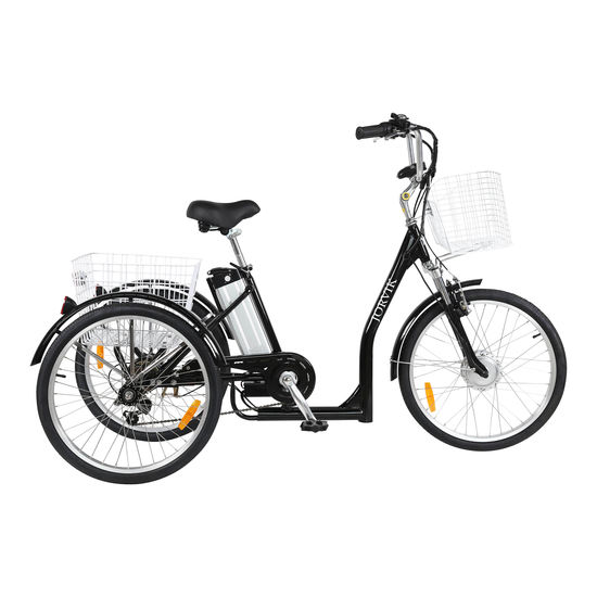 Buy a Jorvik Low Step Electric Trike Black from E-Bikes Direct Outlet